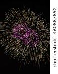 firework display against black...   Shutterstock . vector #460887892