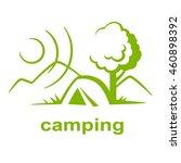 camping logo vector | Shutterstock .eps vector #460898392
