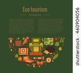 vector cartoon eco tourism... | Shutterstock .eps vector #460904056