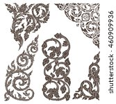 vector set of traditional thai...   Shutterstock .eps vector #460909936