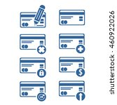 set of credit cards icons. flat ...