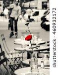 romantic parisian cafe. young... | Shutterstock . vector #460932172