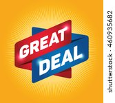 great deal arrow tag sign icon. ... | Shutterstock .eps vector #460935682