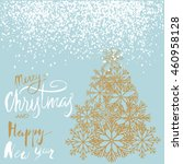 christmas and happy new year... | Shutterstock .eps vector #460958128