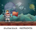 cartoon vector space landscape...