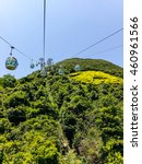 Small photo of Window view aerial tramway