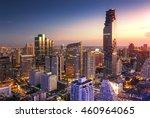 Aerial View Of Bangkok Modern...
