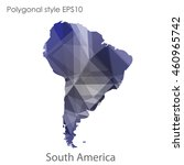 south america map in geometric... | Shutterstock .eps vector #460965742