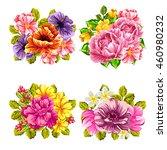 flower set | Shutterstock .eps vector #460980232