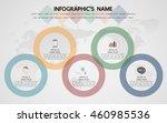 infographic template  eps10 ... | Shutterstock .eps vector #460985536