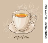 vector illustration with mug of ... | Shutterstock .eps vector #460995502