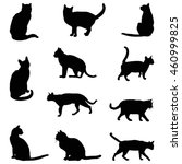 Stock vector vector file of cat silhouette 460999825