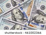 close up of new one hundred... | Shutterstock . vector #461002366