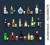 collection of alcohol bottles... | Shutterstock .eps vector #461008678