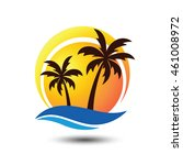 summer holidays design labels ...   Shutterstock .eps vector #461008972