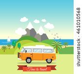 tropical landscape with... | Shutterstock .eps vector #461010568