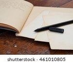writing a letter | Shutterstock . vector #461010805