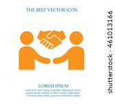 partnership business vector... | Shutterstock .eps vector #461013166