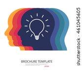 human head thinking a new idea | Shutterstock .eps vector #461045605