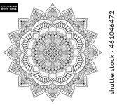 flower mandalas. vintage...   Shutterstock .eps vector #461046472