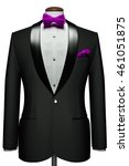 jacket with bow tie and pocket... | Shutterstock . vector #461051875