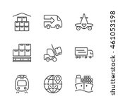 set of thin line icons isolated ... | Shutterstock .eps vector #461053198