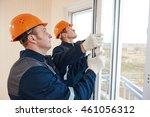 windows installation workers | Shutterstock . vector #461056312