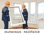 windows installation workers | Shutterstock . vector #461056318