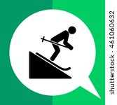man skiing downhill icon | Shutterstock .eps vector #461060632