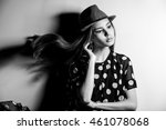 young beautiful fashion model... | Shutterstock . vector #461078068