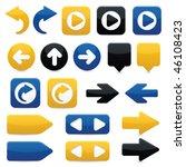 glossy directional arrow...   Shutterstock .eps vector #46108423