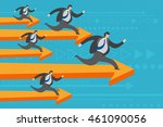 business concept. businessmen... | Shutterstock .eps vector #461090056