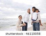 happy african american family... | Shutterstock . vector #46110058