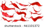 abstract red color splash set...   Shutterstock . vector #461101372