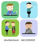 set characters of business man... | Shutterstock .eps vector #461103442