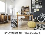 new style interior with ethnic... | Shutterstock . vector #461106676