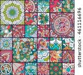 luxury oriental tile seamless... | Shutterstock .eps vector #461116696