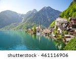 hallstatt  salzkammergut  upper ... | Shutterstock . vector #461116906