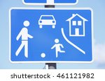 road  sign game  road t ... | Shutterstock . vector #461121982