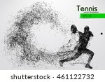 silhouette of a tennis player... | Shutterstock .eps vector #461122732