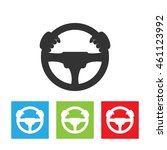driver icon. simple logo of... | Shutterstock . vector #461123992