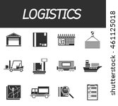logistic icon set | Shutterstock .eps vector #461125018