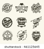 vintage label thank you text... | Shutterstock .eps vector #461125645