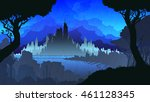 vector colored silhouette... | Shutterstock .eps vector #461128345