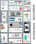 annual report brochure template ... | Shutterstock .eps vector #461134042