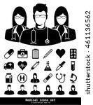 medical icons set. illustration ... | Shutterstock .eps vector #461136562
