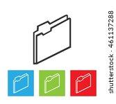 folder icon. simple logo of...