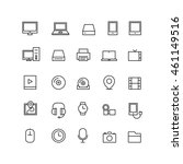 outline technology icons... | Shutterstock .eps vector #461149516