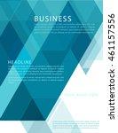 leaflet  brochure  flyer... | Shutterstock .eps vector #461157556