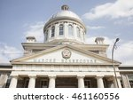 Small photo of MONTREAL - MAY 27, 2016: Inaugurated in 1847, Marche Bonsecours Market is acknowledged as one of Canada's ten finest heritage buildings and has become an essential stop on any visit to Old Montreal.